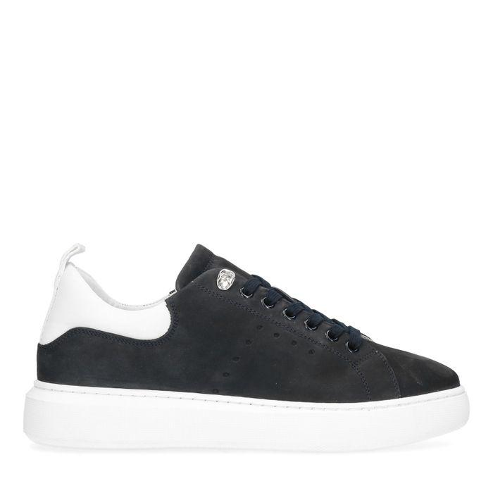 Blauwe nubuck sneakers