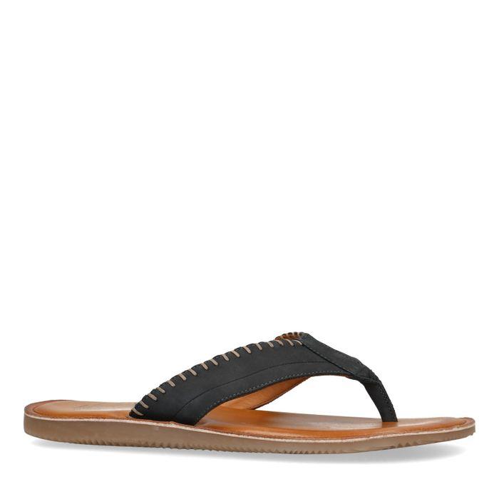 Nubuck blauwe slippers