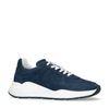 Donkerblauwe nubuck sneakers