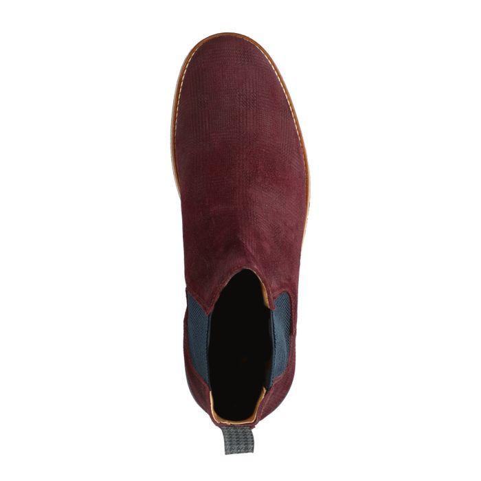 Bordeaux rode nubuck chelsea boots
