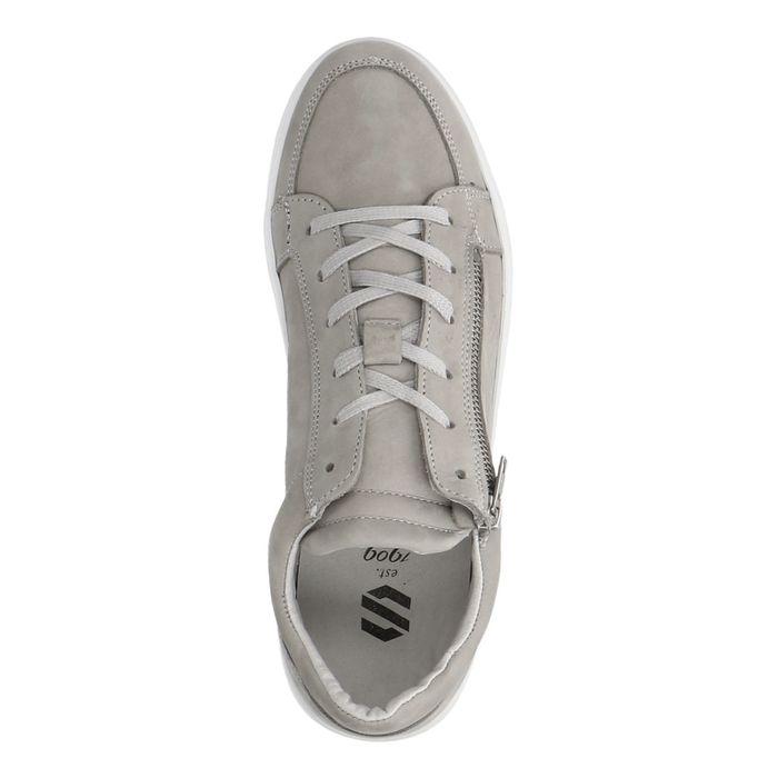 Grijze lage sneakers nubuck