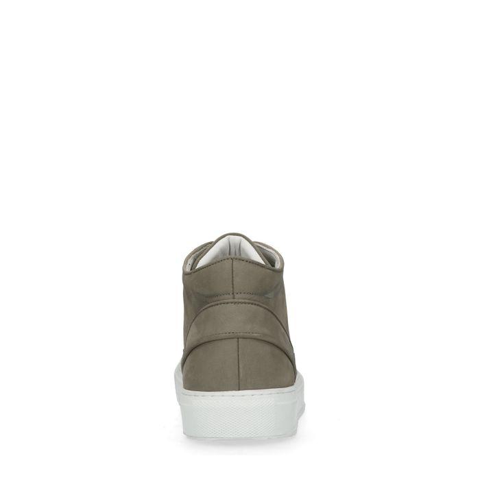 Grijze hoge sneakers van nubuck