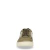 Khaki lage sneakers met details