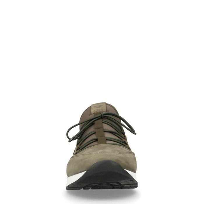 Groene sneakers met donkergroen detail