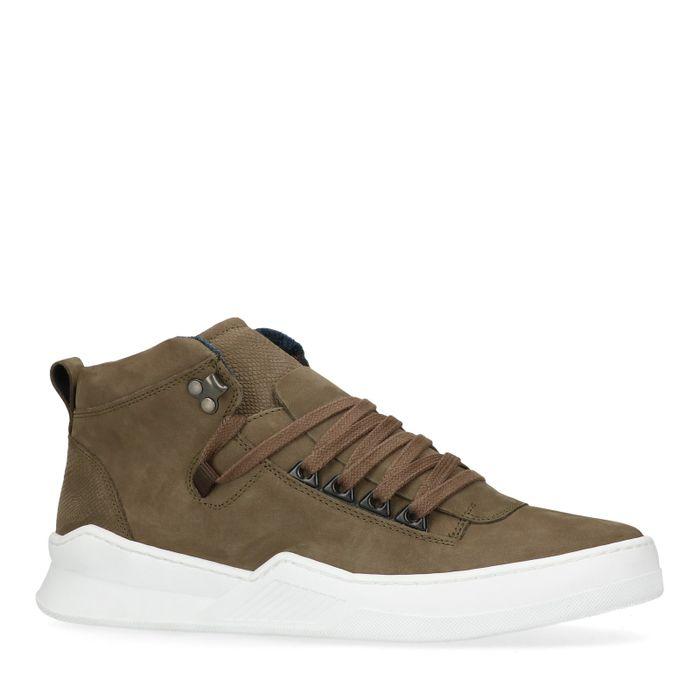 Hoge groene sneakers met details