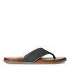 Blauwe nubuck slippers