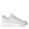 Witte nubuck sneakers met blauw detail