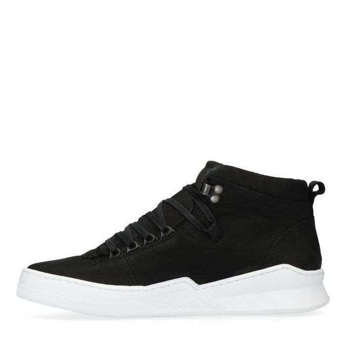 Zwarte hoge nubuck sneakers
