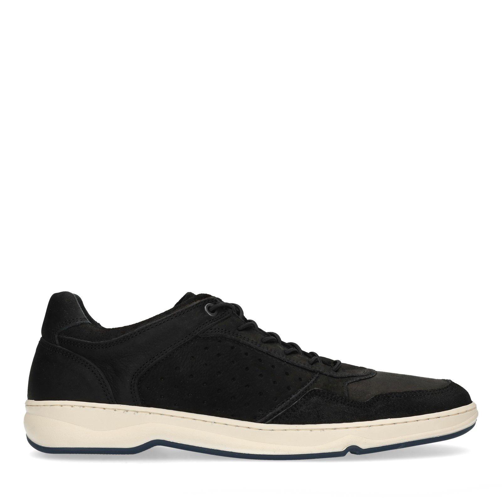 – Sacha Lage Herenschoenen Zwarte Nubuck Sneakers 435cjqARL