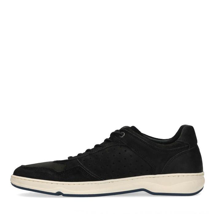 Zwarte nubuck lage sneakers