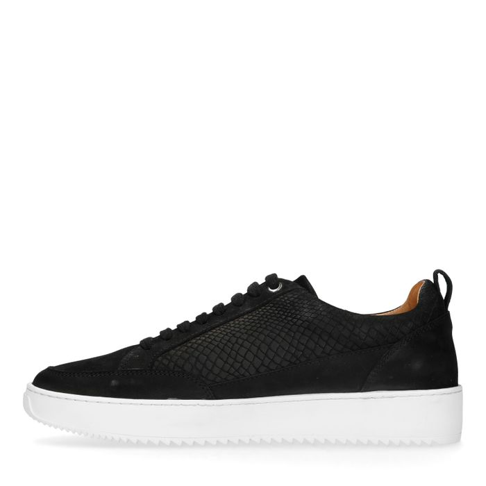 Zwarte sneakers met crocoprint