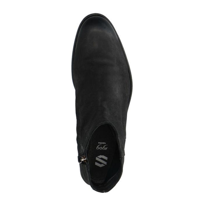 Zwarte lage boots van nubuck