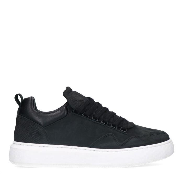 Zwarte sneakers van nubuck