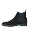 Zwarte nubuck chelsea boots