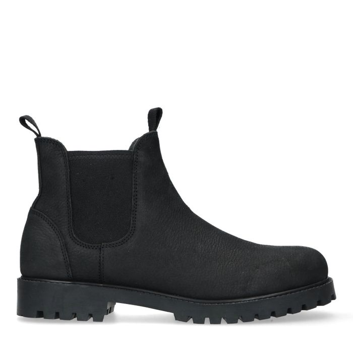 Zwarte waterproof nubuck chelsea boots