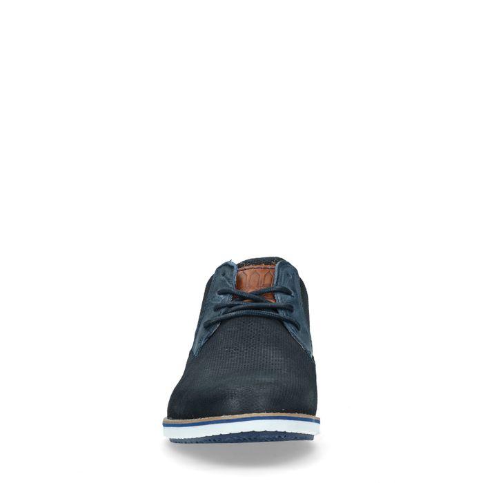 Casual blauwe veterschoenen