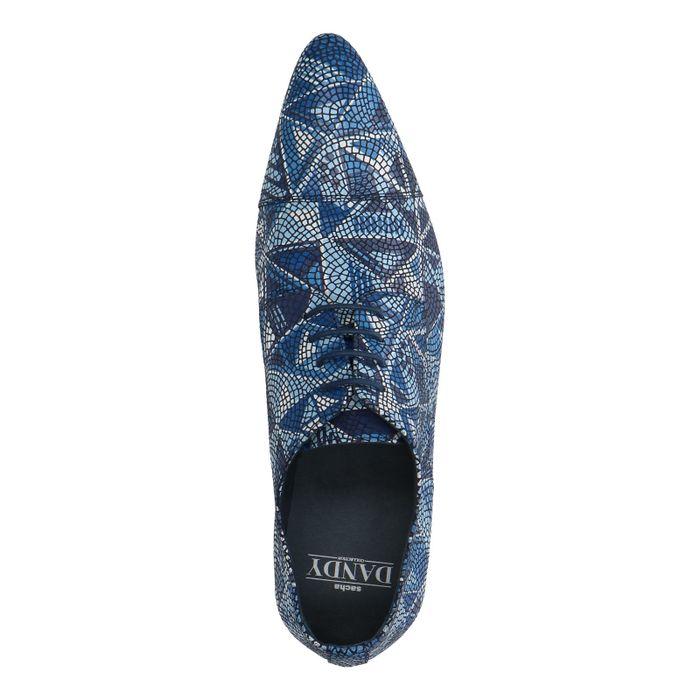 Blauwe veterschoenen met mozaïek
