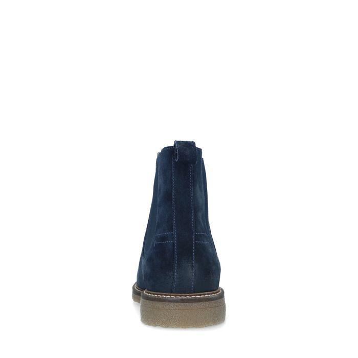 Donkerblauwe suède chelsea boots
