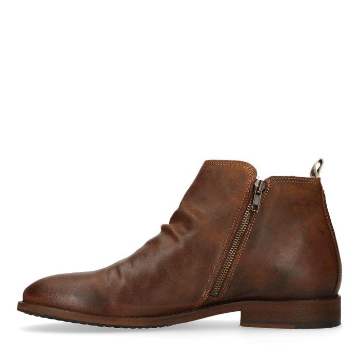 Bruine suède lage boots