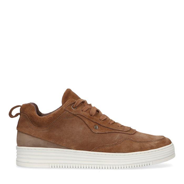 Bruine suède sneakers