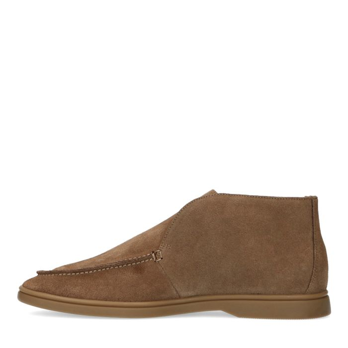 Camel loafers