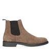 Cognac suède chelsea boots
