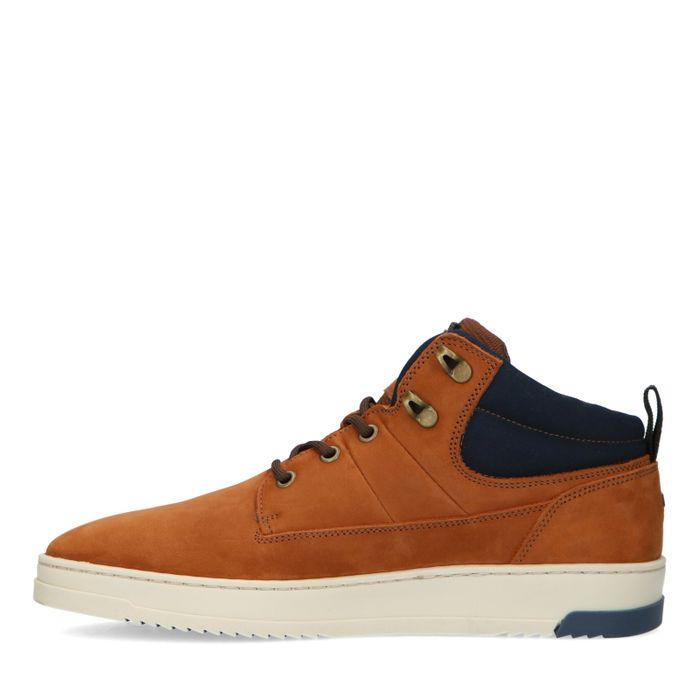 Cognac suède sneakers