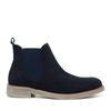 Donkerblauwe lage chelsea boots