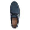 Donkerblauwe lage veterschoenen