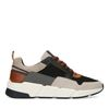 Grijze sneakers met cognac details