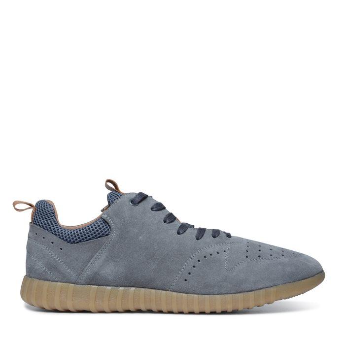 Grijs suède lage sneakers