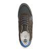 Donkergrijze lage sneakers met detail