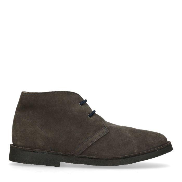 Donkergrijze desert boots