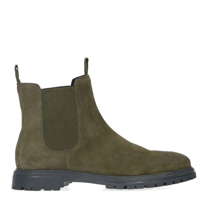 Rien x Sacha donkergroene chelsea boots