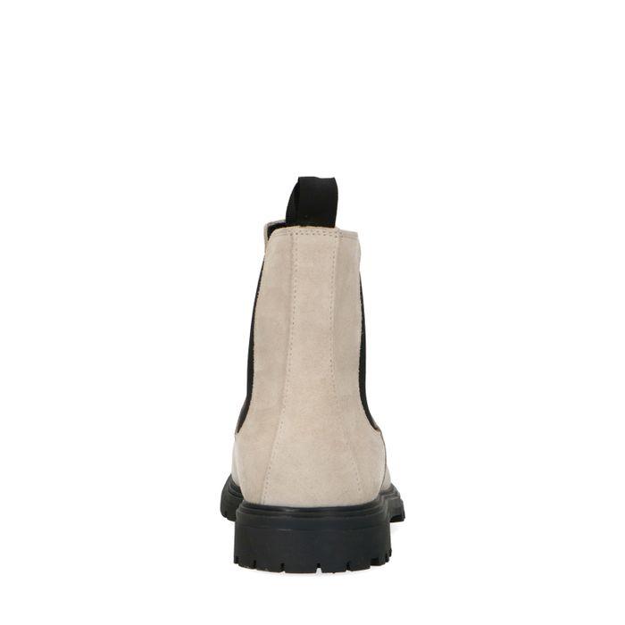 Off white suède chelsea boots