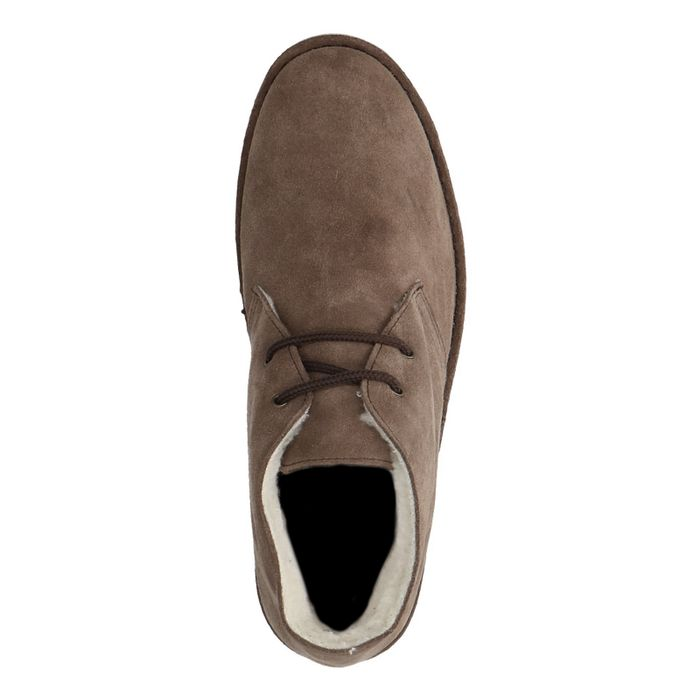 Taupe desert boots