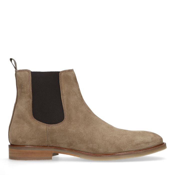 Taupe suède chelsea boots