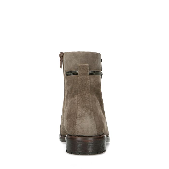 Taupe suède veterboots