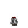 Suède veterschoenen met zebraprint