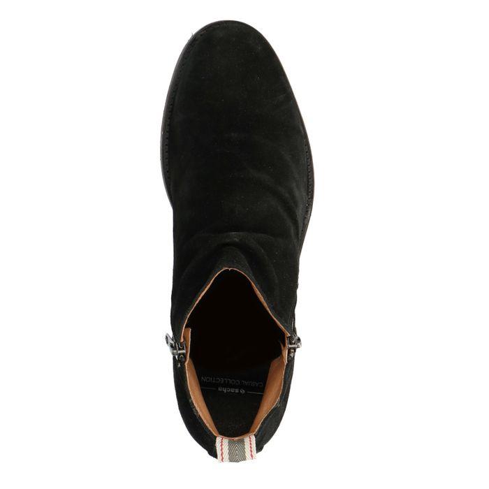 Zwarte lage boots met rits