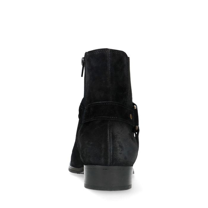 Zwarte chelsea boots met buckle