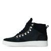 Hoge zwarte suède sneakers