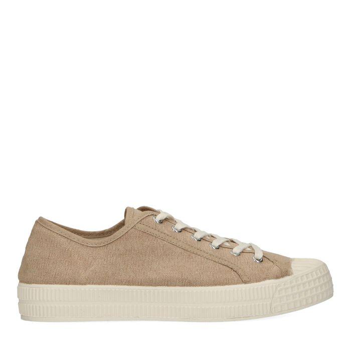 Beige canvas sneakers