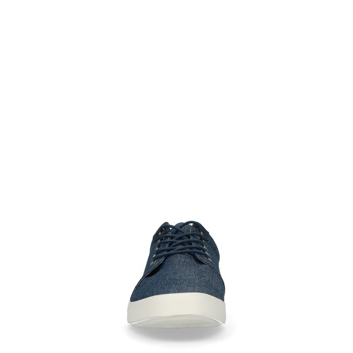 Blauwe lage sneakers denimlook