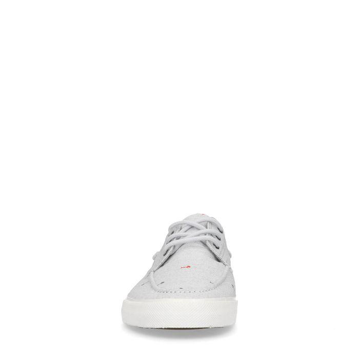Grijze lage sneakers met print