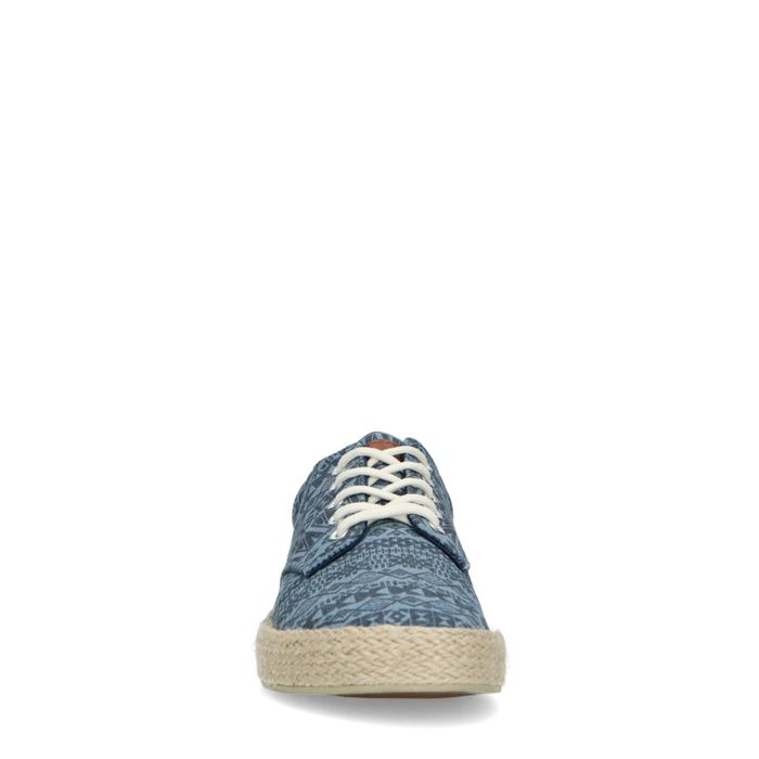 Blauwe canvas sneakers met all over print