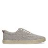 Beige canvas sneakers met all over print