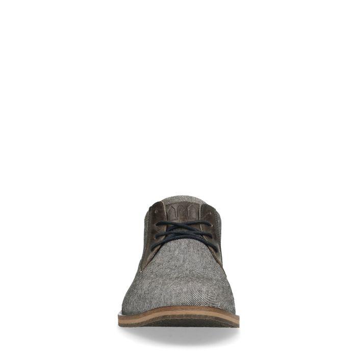 Lage grijze casual veterschoenen
