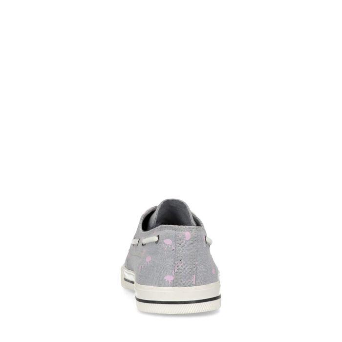 Grijze lage sneakers met flamingo's