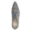 Grijze veterschoenen met patroon